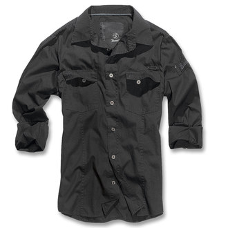 chemise pour hommes Brandit - Men chemise Slim - Noire, BRANDIT