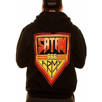 sweat-shirt avec capuche pour hommes - Satan Army Badge - TOXICO, TOXICO