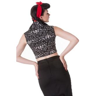 chemise (gilet) pour femmes HELL BUNNY - Bandana - BLK, HELL BUNNY