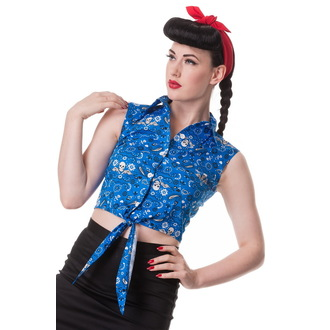 chemise (gilet) pour femmes HELL BUNNY - Bandana - Blu, HELL BUNNY