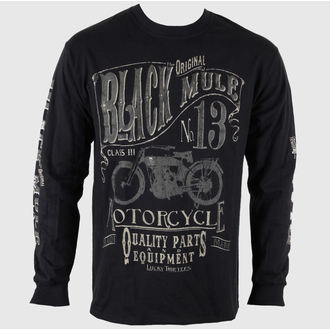 tee-shirt pour hommes avec longue manche LUCKY 13 Noire Mule, LUCKY 13