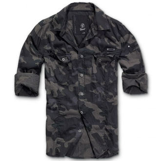 chemise pour hommes BRANDIT - Men chemise Slim Darkcamo, BRANDIT