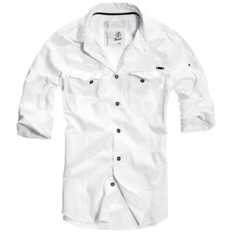 chemise pour hommes BRANDIT - Men chemise Slim Weiss, BRANDIT