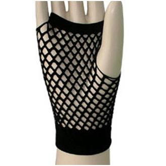 gants (douille) collants - Short Fishnet - Noire, LEGWEAR