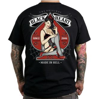 tee-shirt street pour hommes - MISS PIN UP - BLACK HEART, BLACK HEART