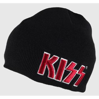 bonnet Kiss - Rouge on Blanc Logo - ROCK OFF, ROCK OFF, Kiss