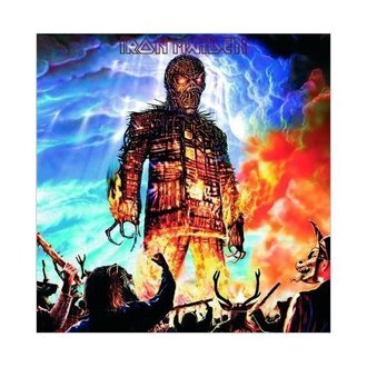 carte de voeux Iron Maiden - Wicker Man - ROCK OFF, ROCK OFF, Iron Maiden
