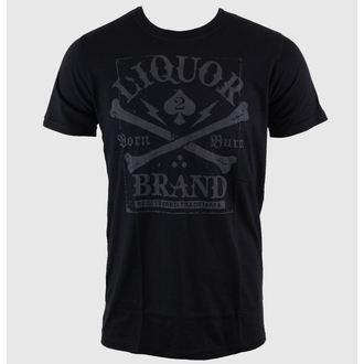 t-shirt hardcore pour hommes - Crossbones - LIQUOR BRAND, LIQUOR BRAND