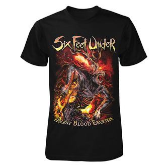 T-shirt metal pour hommes Six Feet Under - Violent Blood Eruption - ART WORX, ART WORX, Six Feet Under
