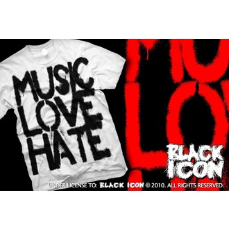 t-shirt hardcore pour hommes - Music, Love - BLACK ICON, BLACK ICON