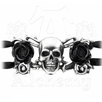 bracelet ALCHEMY GOTHIC - Skull & Briar Rose, ALCHEMY GOTHIC