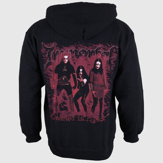 sweat-shirt avec capuche pour hommes Immortal - Damned In Black - RAZAMATAZ, RAZAMATAZ, Immortal