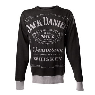 pull pour hommes Jack Daniels - Knitted Sweater - Noire - BIOWORLD, JACK DANIELS