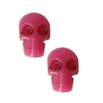 boucles d`oreilles KREEPSVILLE SIX SIX SIX - Skull - Pink, KREEPSVILLE SIX SIX SIX