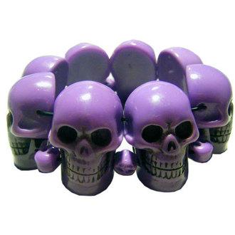 bracelet KREEPSVILLE SIX SIX SIX - Skull - Pourpre, KREEPSVILLE SIX SIX SIX