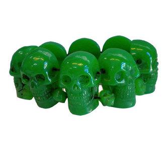 bracelet KREEPSVILLE SIX SIX SIX - Skull - Green, KREEPSVILLE SIX SIX SIX