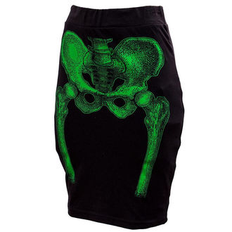 jupes pour femmes KREEPSVILLE SIX SIX SIX - Skeleton Pencil - Green, KREEPSVILLE SIX SIX SIX