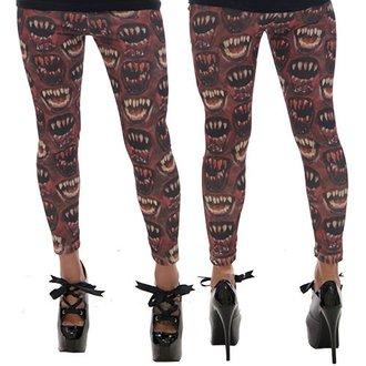 pantalon pour femmes (caleçons) KREEPSVILLE SIX SIX SIX - Monster Mouth - Rouge, KREEPSVILLE SIX SIX SIX