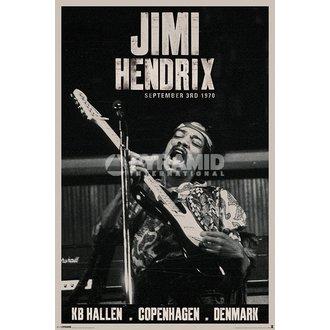 affiche Jimi Hendrix - Copenhagen - PYRAMID POSTERS, PYRAMID POSTERS, Jimi Hendrix