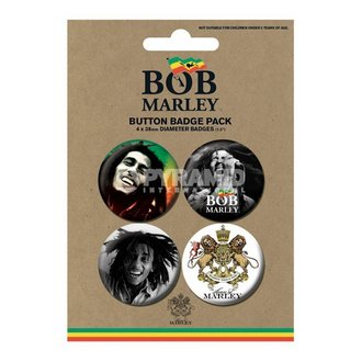 épinglettes Bob Marley - Photo - PYRAMID POSTERS, PYRAMID POSTERS, Bob Marley