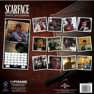 calendrier pour année 2014 Scarface - PYRAMID POSTERS, PYRAMID POSTERS