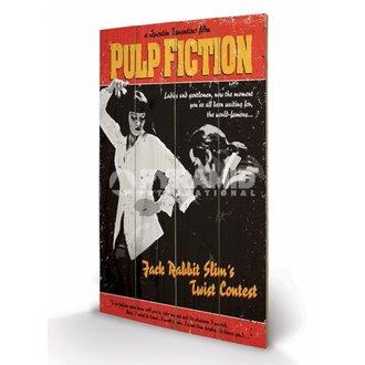 en bois tableau Pulp Fiction - Twist Contest - PYRAMID POSTERS, PYRAMID POSTERS, Pulp Fiction