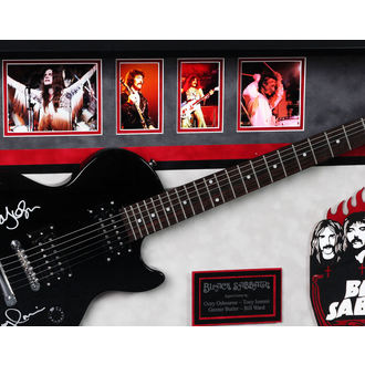 signé guitare NOIRE SABBATH, ANTIQUITIES CALIFORNIA, Black Sabbath