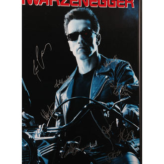 affiche avec signatures Terminator 2, ANTIQUITIES CALIFORNIA
