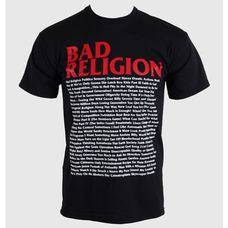 tee-shirt métal pour hommes Bad Religion - Song List - KINGS ROAD, KINGS ROAD, Bad Religion