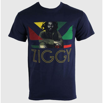 tee-shirt métal pour hommes unisexe Ziggy Marley - Blue Navy - KINGS ROAD, KINGS ROAD, Ziggy Marley