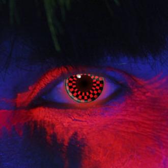 de contact lentilles RED AND NOIRE CHECKERS UV - EDIT, EDIT