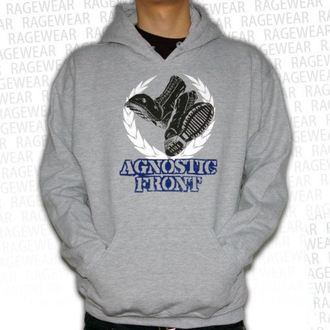 sweat-shirt avec capuche pour hommes Agnostic Front - Against The World - RAGEWEAR, RAGEWEAR, Agnostic Front