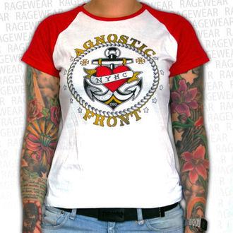tee-shirt métal pour femmes unisexe Agnostic Front - Anchor - RAGEWEAR, RAGEWEAR, Agnostic Front
