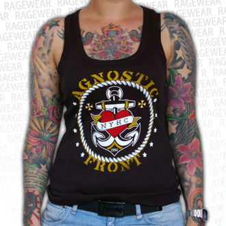 gilet pour femmes Agnostic Front - Anchor - Noire - RAGEWEAR, RAGEWEAR, Agnostic Front