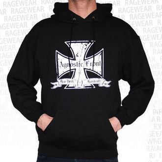 sweat-shirt avec capuche pour hommes Agnostic Front - Iron Cross - RAGEWEAR, RAGEWEAR, Agnostic Front