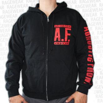 sweat-shirt avec capuche pour hommes Agnostic Front - No Justice, Just Us - RAGEWEAR, RAGEWEAR, Agnostic Front