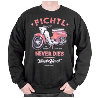 sweat-shirt sans capuche pour hommes - FICHTL - BLACK HEART, BLACK HEART