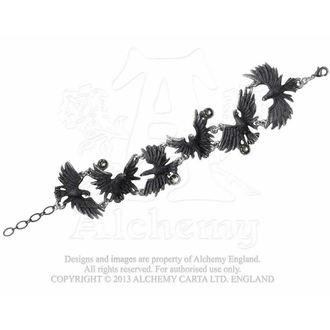 bracelet Flocage Ravens - ALCHEMY GOTHIC, ALCHEMY GOTHIC