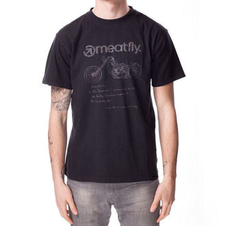 tee-shirt street pour hommes unisexe - WISHLIST B - MEATFLY, MEATFLY