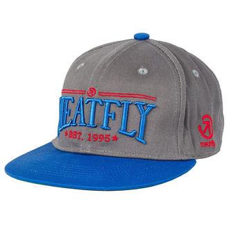 casquette MEATFLY - MF SNAP ÉTABLI B - Gris / Bleu