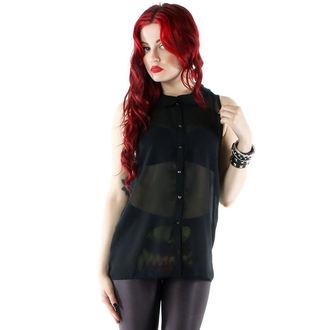 chemise pour femmes IRON FIST - Spineless Peter Pan Collar - Noire, IRON FIST