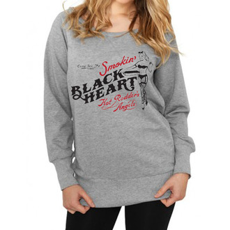sweat-shirt sans capuche pour femmes - Smokins - BLACK HEART, BLACK HEART
