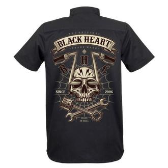Chemise pour hommes BLACK HEART - CHOPPER SKULL - NOIR, BLACK HEART