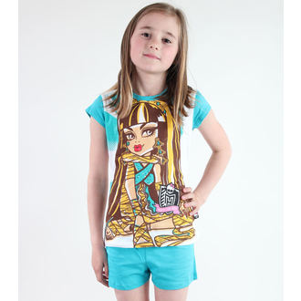 pyjama jeune fille TV MANIA - Monster Élevé - Blanc / Turquise, TV MANIA, Monster High
