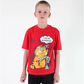 tee-shirt garçons TV MANIA - Garfield - Rouge, TV MANIA, Garfield