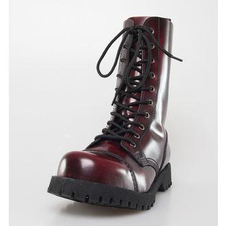 chaussures NEVERMIND - 10 trous - Bordeaux Polido, NEVERMIND