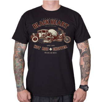 tee-shirt street pour hommes - REVELATION - BLACK HEART, BLACK HEART