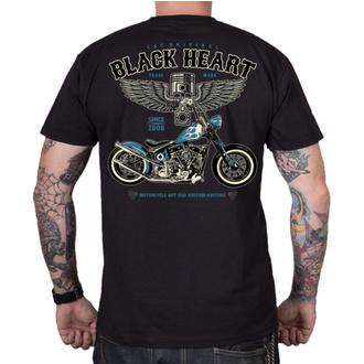 tee-shirt street pour hommes - BLUE CHOPPER - BLACK HEART, BLACK HEART