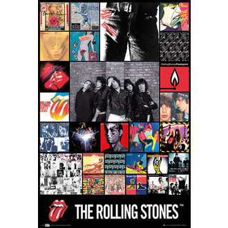 affiche The Rolling Stones - Discography Maxi, GB posters, Rolling Stones