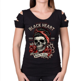 tee-shirt street pour femmes - JENY DESTROY - BLACK HEART, BLACK HEART